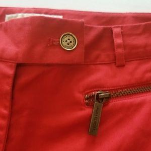 Michael Kors Shorts - Michael Kors cherry red shorts zipper detail sz 6